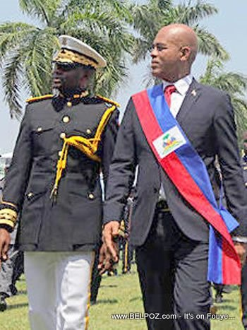 President Michel Martelly And Haiti Police Chief Mario Andresol